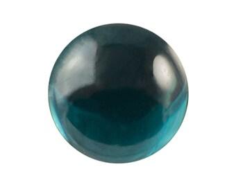 Transparent Montana Blue Foiled Glass Round Cabochons 18mm (2) cab2008U