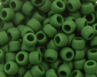 """Opaque Frosted Pine Green Toho Seed Bead 8/0 2.5"""" Tube TR-08-47HF/C"""
