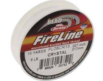 8lb Fireline Crystal Thread .007in/0.17mm 15 YRD