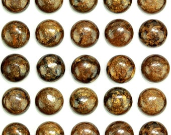 Dakota Stones Bronzite 6mm Round Cabochon Gemstones. CAB- BRZ6DC