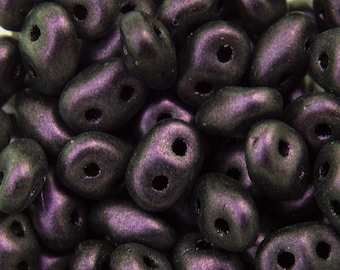 """Polychrome Black Currant SuperDuo Beads 2/5mm 2.5"""" Tube 364-25-94101/C"""