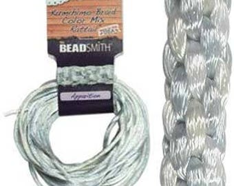 Kumihimo Rattail Color Mix Apparition, 4 Braids x 3 Yards each, 2mm Diameter
