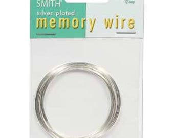 """Beadsmith Silver Plated Memory Wire 2"""" Diameter, 12 Loop"""