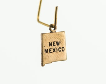 Brass Ox Tiny New Mexico State Charm Drops (2) chr204Y