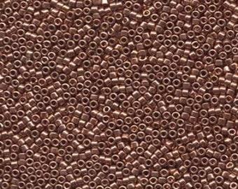 Bright Copper Platted Miyuki Delica Seed Bead 11/0 7.2G Tube DB040-TB