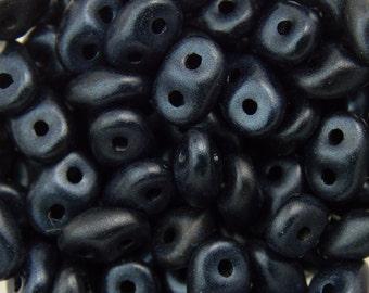 "Metallic Suede Dark Blue SuperDuo Beads 2/5mm 2.5"" Tube 364-25-79032/C"
