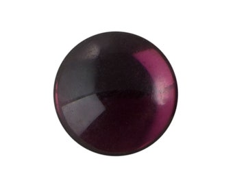 Transparent Amethyst Foiled Glass Round Cabochons 15mm (4) cab2007D
