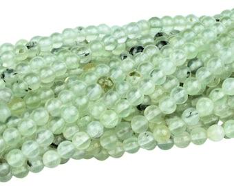 "30% OFF Dakota Stones Prehnite 4mm Round Gemstones 8"" Strand PRE4RD-8"