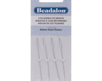 Beadalon Collapsible Eye Needles 2.5-Inch Medium 4 Pack 700M-100