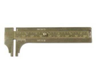 Brass Sliding Gauge 80mm Capacity.