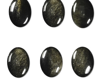 Dakota Stones Golden Obsidian 14X10mm Oval Cabochon Gemstone CAB-GOB14x10OV