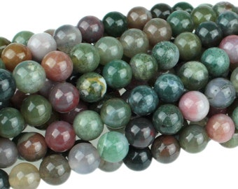 "Dakota Stones Fancy Jasper 6mm Round Gemstones 8"" Strand FAN6RD-8"