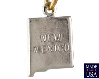 Shiny Silver Tiny New Mexico State Charm Drops (2) chr225Y