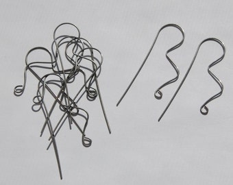 Surgical Steel Geometric Squiggle Long Ear Wires (12) fnd013A
