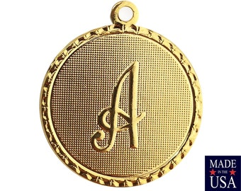 Gold Plated Letter A Initial Charm Drop with Loop (1) chr215A