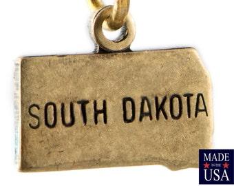 Brass Ox Tiny South Dakota State Charm Drops (6) chr203S