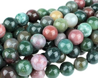 "Dakota Stones Fancy Jasper 10mm Round Gemstones 8"" Strand FAN10RD-8"