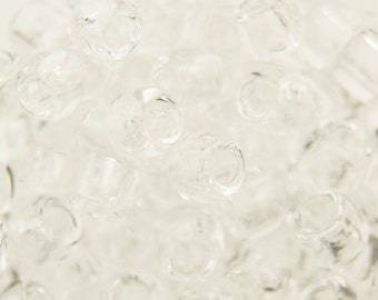 "Transparent Crystal Seed Bead (8g) 6/0 2.5"" Tube TR-06-1/C"