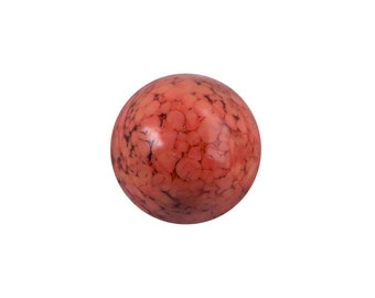 Red Coral Matrix Glass Cabochons 11mm (6) cab1005B