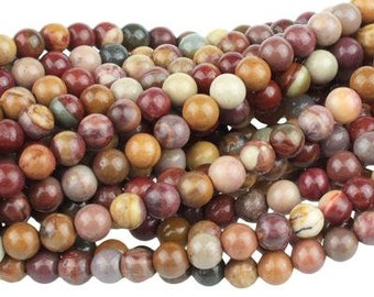 "30% OFF Dakota Stones Mookaite 6mm Round Gemstones. 8"" Strand. MKT6RD-8"