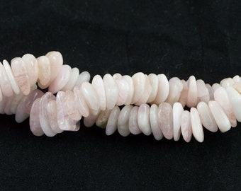"Dakota Stones Pink Morganite 10-15MM Chips Beads Gemstones. 8"" Strand. MOR10-15CHP-8"
