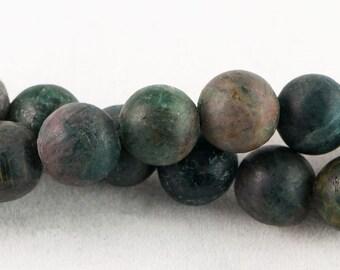 "Dakota Stones Matte Blue Apatite 10mm Round Gemstones. 8"" Strand. BAP10RD-M-8"
