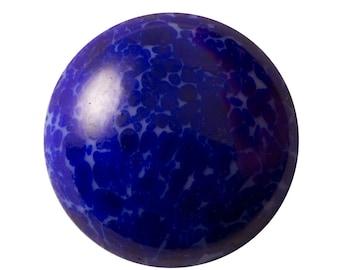 Vintage Lapis Blue Matrix Glass Cabochons 25mm (1) cab1011D