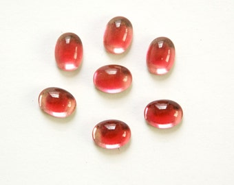 Vintage 2 Tone Pink Givre Glass Cabochons 8mm X 6mm (8) cab575EE