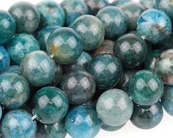 "Dakota Stones Blue Apatite 8mm Round Gemstones. 8"" Strand. BAP8RD-8"