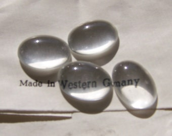 Vintage Glass Magnifying Cabs 18x13mm (4) cab116