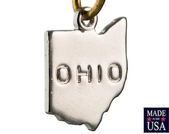 Shiny Silver Tiny Ohio State Charm Drops (6) chr224AA