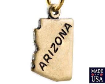 Brass Ox Tiny Arizona State Charm Drops (2) chr204BB
