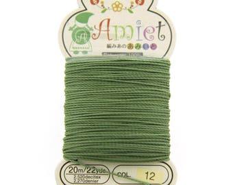 Olive Toho Amiet Polyester Thread 22yrds/20m