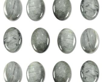 Dakota Stones Chrysoberyl Gray Cat's Eye 25X18mm Oval Cabochon Gemstones CAB-CAT25x18OV
