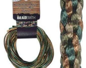 Kumihimo Rattail Color Mix Earthtones, 4 Braids x 3 Yards each, 2mm Diameter