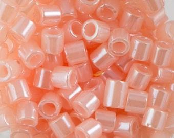 Lined Crystal Pale Salmon Miyuki Delica Seed Bead 8/0 6.8G Tube DBL-0234-TB