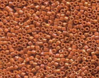 Opaque Glazed Burnt Orange Miyuki Delica Seed Bead 11/0 7.2G Tube DB2274-TB