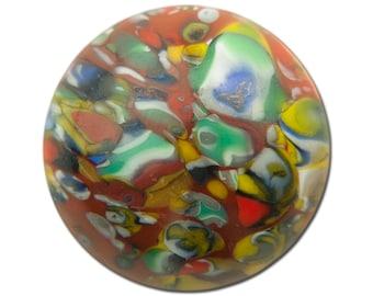 Vintage Brown Millefiori Glass Cabochons 15mm (2) cab484B