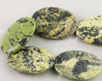 "30% OFF Dakota Stones Yellow Turquoise 30x40 Oval Beads Gemstones. 8"" Strand. YTQ30x40OVL-8"