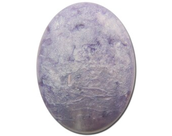 Vintage Acrylic Purple Crackle Like Cabochon 27x20mm (2) cab782A