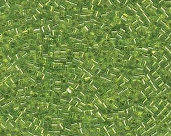 Silver Lined Chartruese Miyuki Cube Seed Bead 1.8mm 8.2gm Tube SB18-14-TB