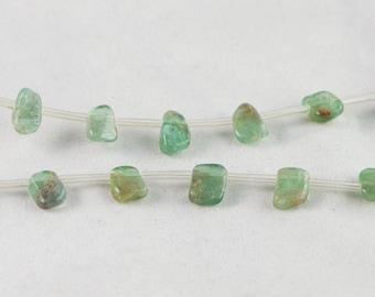 "Dakota Stones Blue Apatite Approx. 10x6mm Tumbled Nugget Gemstones. 8"" Strand. BAP10x6NUG-8"
