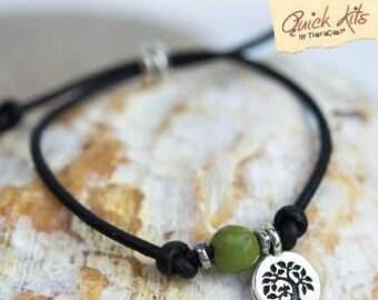TierraCast Quick Kits: Mantra Bracelet. Wisdom.