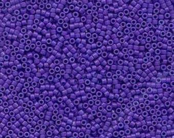 11/0 MIYUKI DELICA Dyed Opaque Purple Seed Bead (8g)