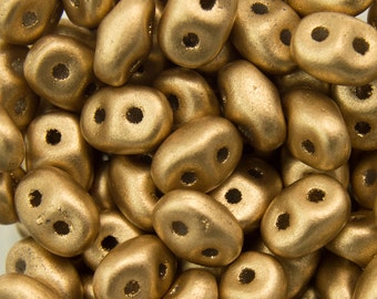 "Matte Metallic Flax SuperDuo Beads 2/5mm 2.5"" Tube 364-25-K0171/C"