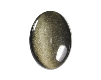 Dakota Stones Golden Obsidian 25X18mm Oval Cabochon Gemstone GOB25X18OV