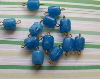 Vintage Ocean Blue Connector Beads Drops Charms bds166B