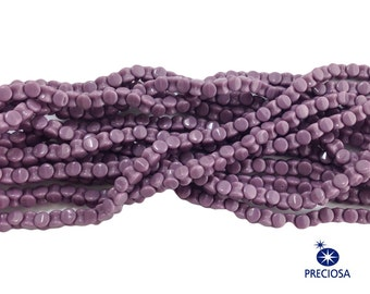 Preciosa Opaque Purple Glass Czech Pellet Beads 4x6mm (50) czh027G