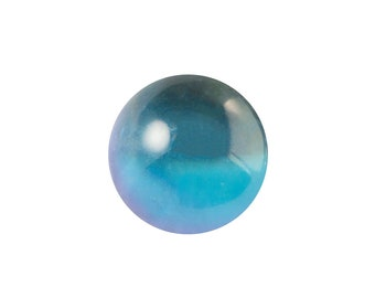 Crystal Helio Light Blue Clear Glass Ball Cabochon With Foil 10mm (4) cab357B