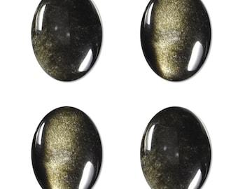 Dakota Stones Golden Obsidian 18X13mm Oval Cabochon Gemstone CAB-GOB18x13OV